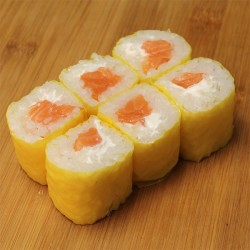 Yellow maki saumon/cheese