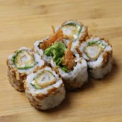 Crispy rolls tempura crevette/mayo/salade