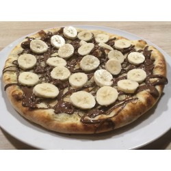 Pizza nutella banane