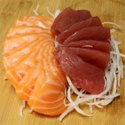 Sashimi duo (saumon/thon) 15 pièces