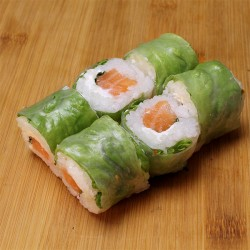 Spring rolls saumon/cheese/menthe