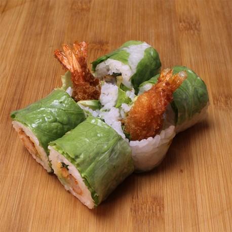 Spring rolls tempura crevette/avocat/menthe