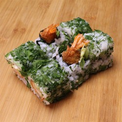Green rolls tempura crevette/mayo/salade